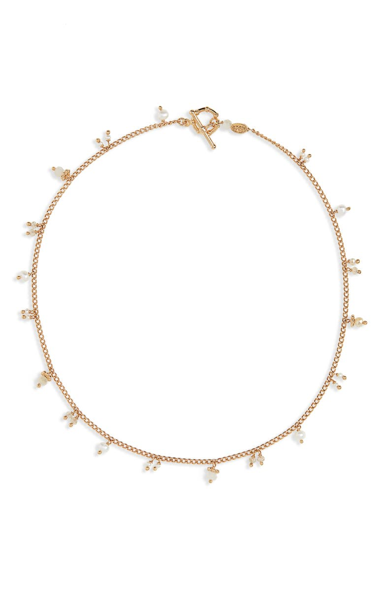 GAS BIJOUX Shaky Charm Necklace, Main, color, WHITE / LIGHT GREY