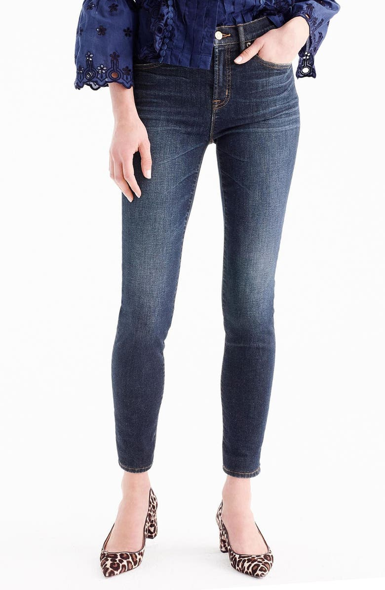 J.CREW High Rise Toothpick Jeans, Main, color, SOLANO WASH
