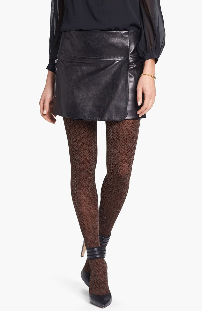 HUE 'Shimmer Herringbone' Tights, Main, color, 040