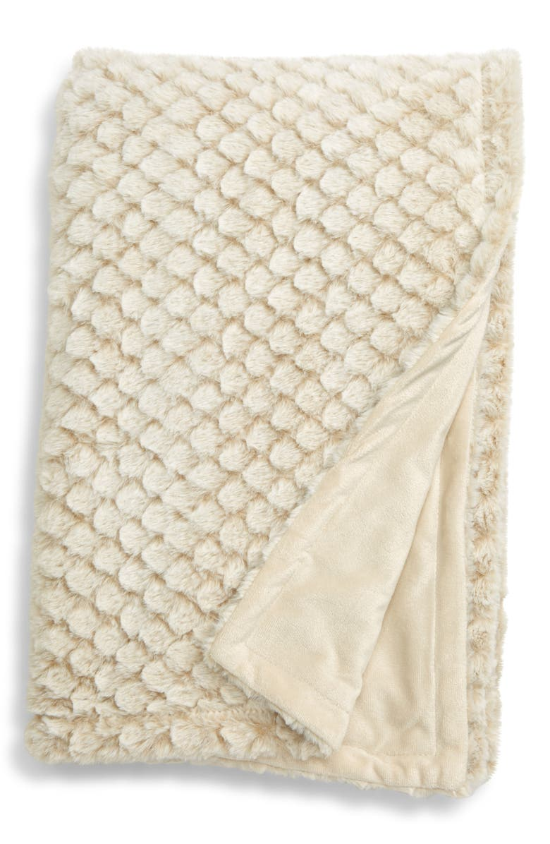 NORDSTROM at Home Diamond Plush Throw, Main, color, 250