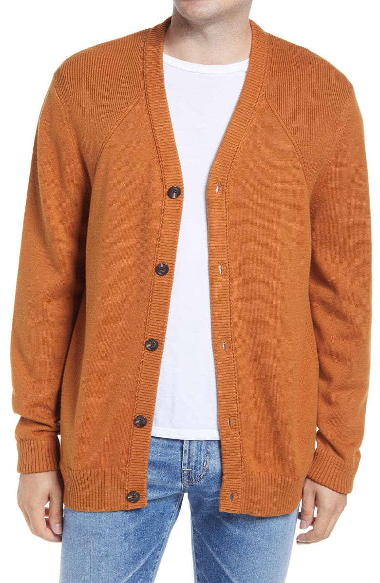 1901 Cotton & Cashmere Cardigan, Main, color, RUST GINGER