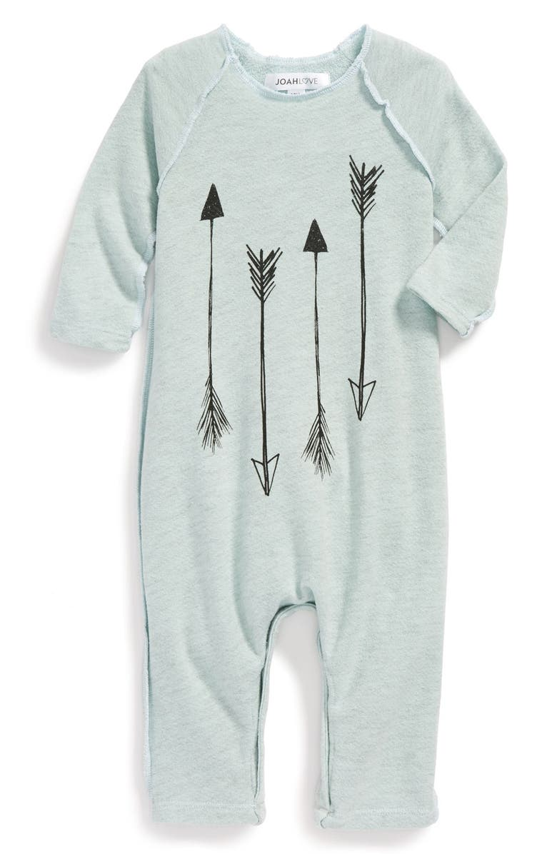 JOAH LOVE French Terry Romper, Main, color, 400