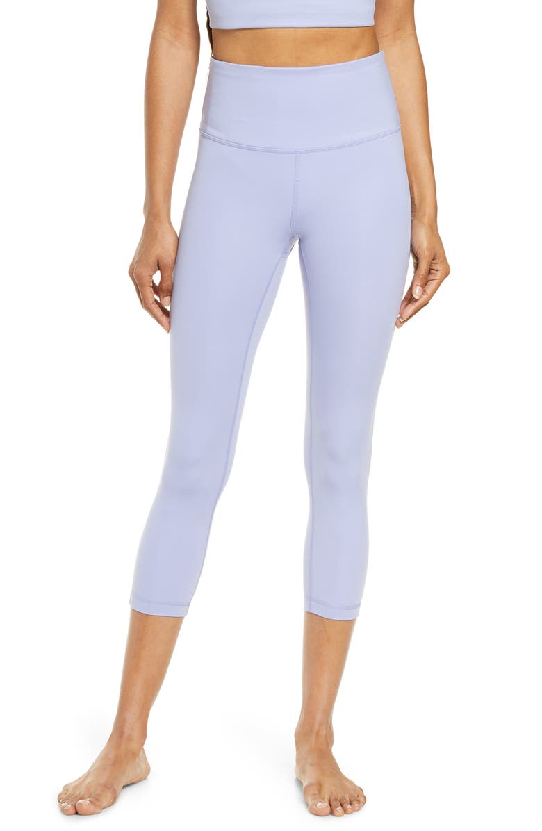 ZELLA Studio Crop Lite Leggings, Main, color, BLUE THISTLE