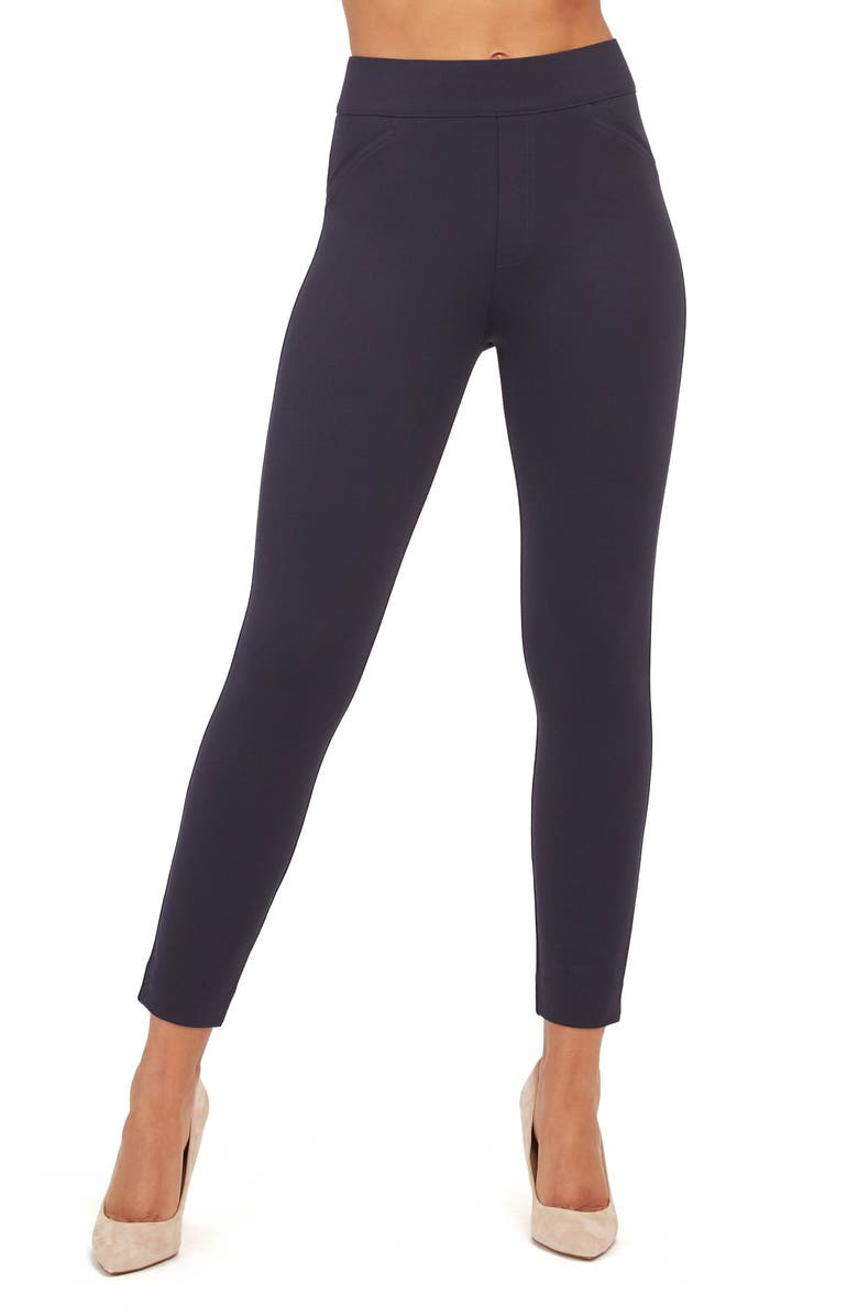 SPANX<SUP>®</SUP> The Perfect  Back Seam Skinny Pants, Main, color, CLASSIC NAVY