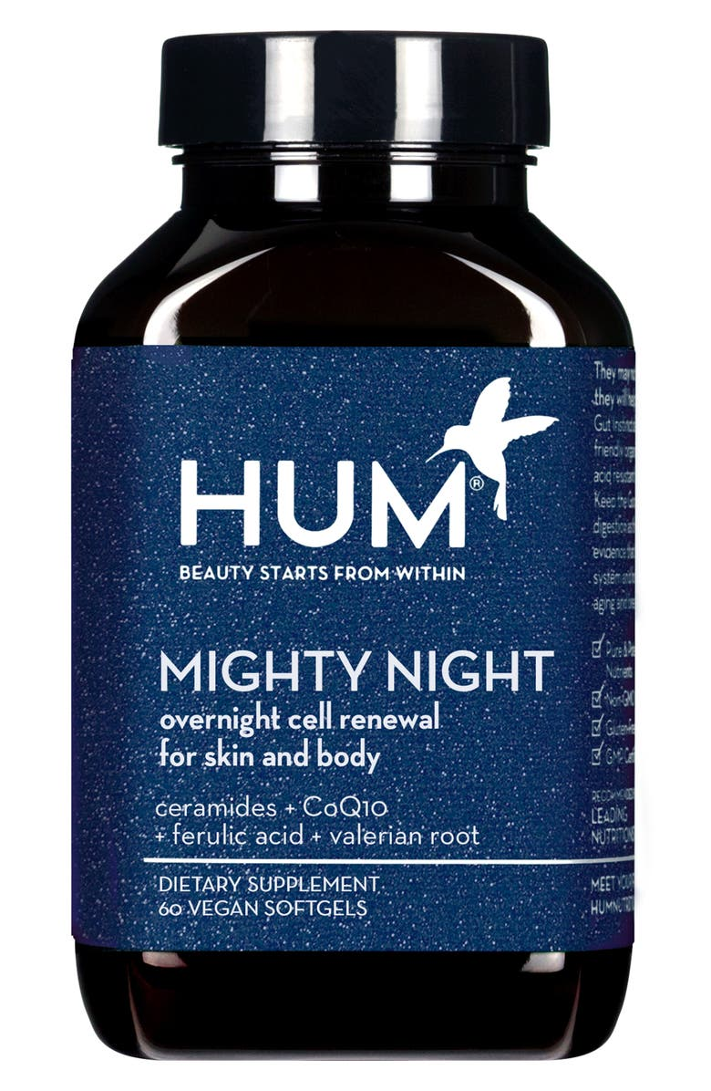 HUM NUTRITION Mighty Night Overnight Renewal Dietary Supplement, Main, color, NO COLOR