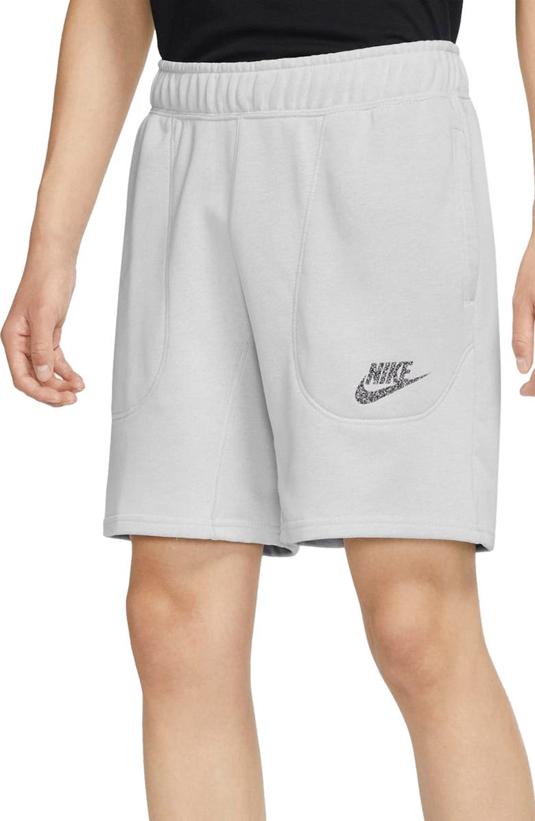 NIKE Sportswear French Terry Shorts, Main, color, PURE