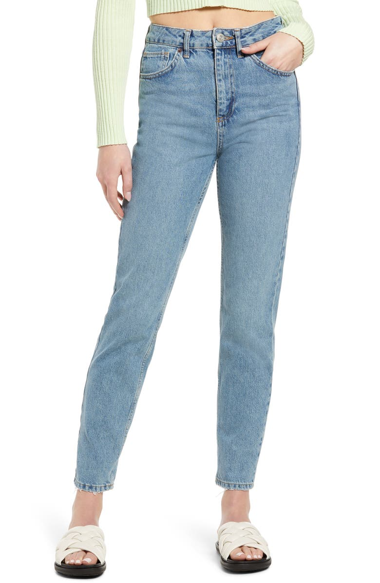 BDG URBAN OUTFITTERS Women's High Waist Mom Jeans, Main, color, MID VINTAGE