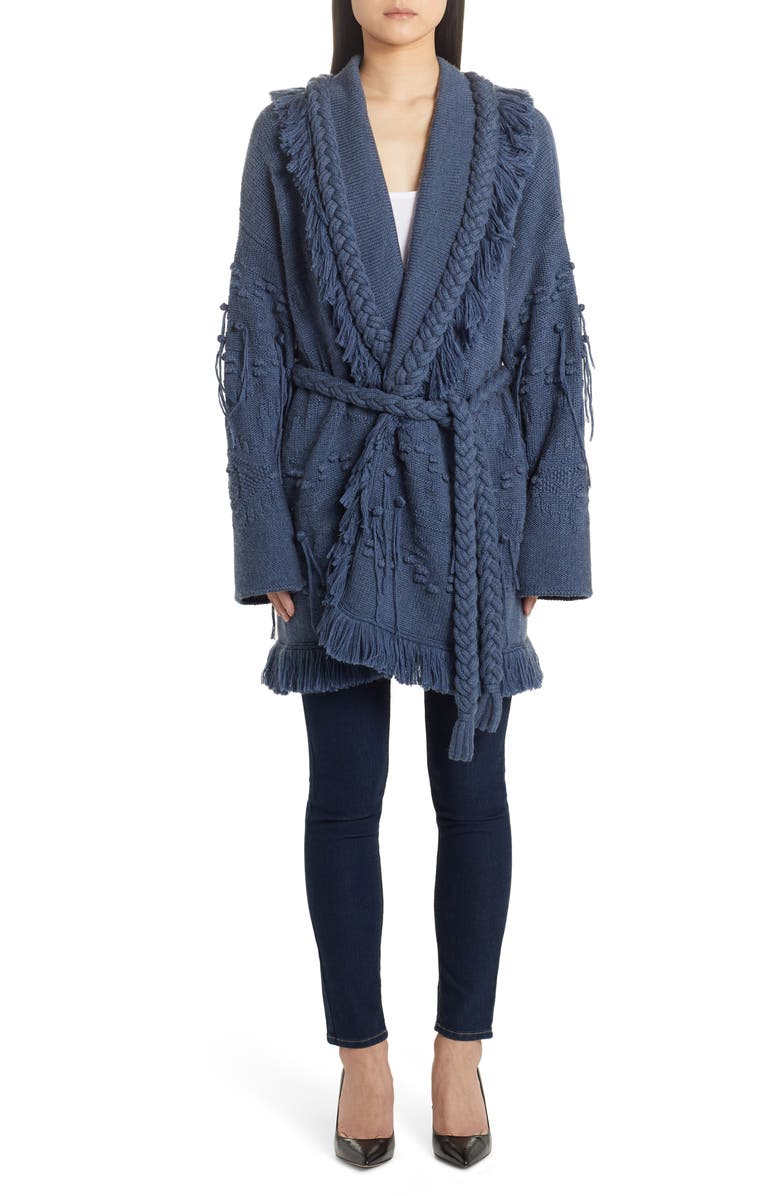ALANUI Icon Fisherman Belted Oversize Cashmere Cardigan, Main, color, 400