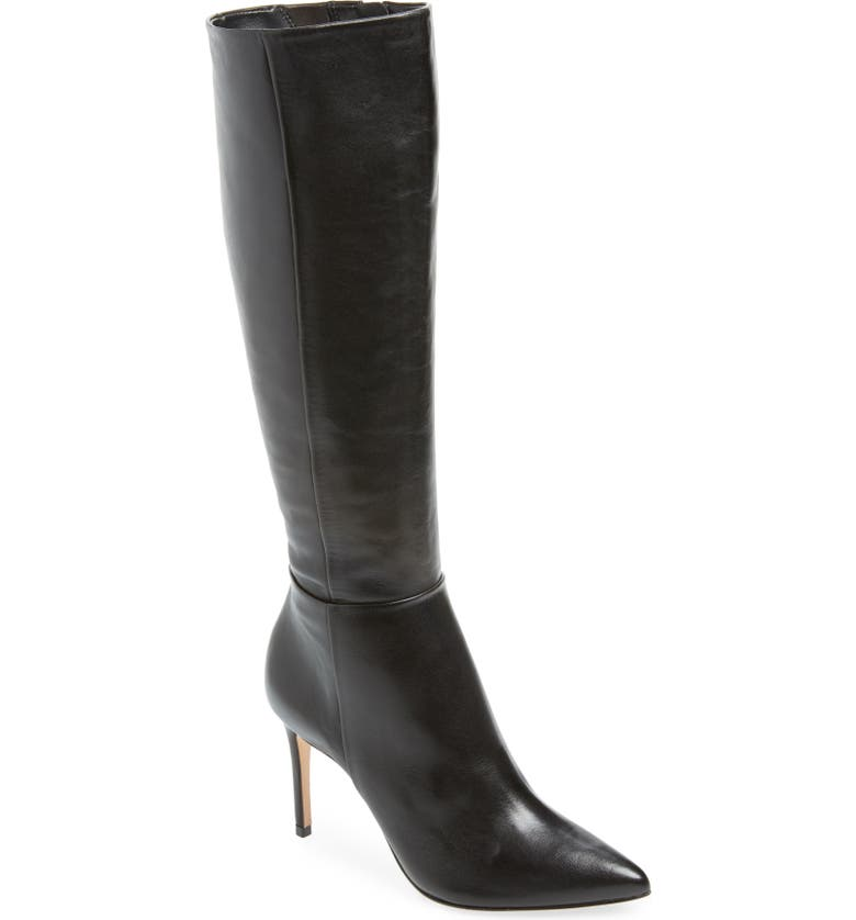 SCHUTZ Magalli Knee High Boot, Main, color, BLACK LEATHER