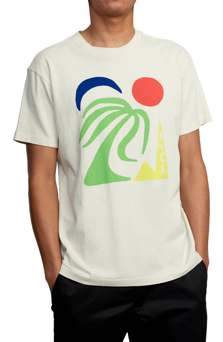 RVCA Oasis Graphic Tee, Main, color, SILVER BLEACH