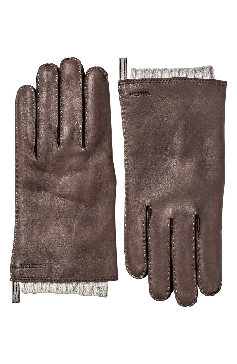 HESTRA Tony Deerksin Leather Gloves, Main, color, 203