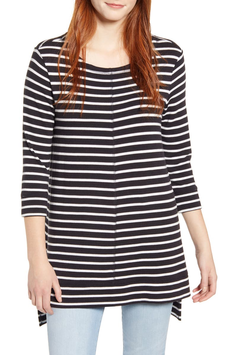 CASLON<SUP>®</SUP> Three Quarter Sleeve Side Slit Tunic, Main, color, 003