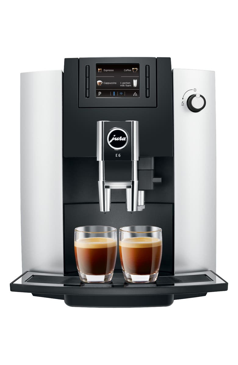 JURA E6 Automatic Coffee Machine, Main, color, PLATINUM