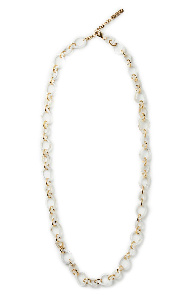 LAFAYETTE 148 NEW YORK Marbled Irregular Necklace, Main, color, CLOUD MULTI