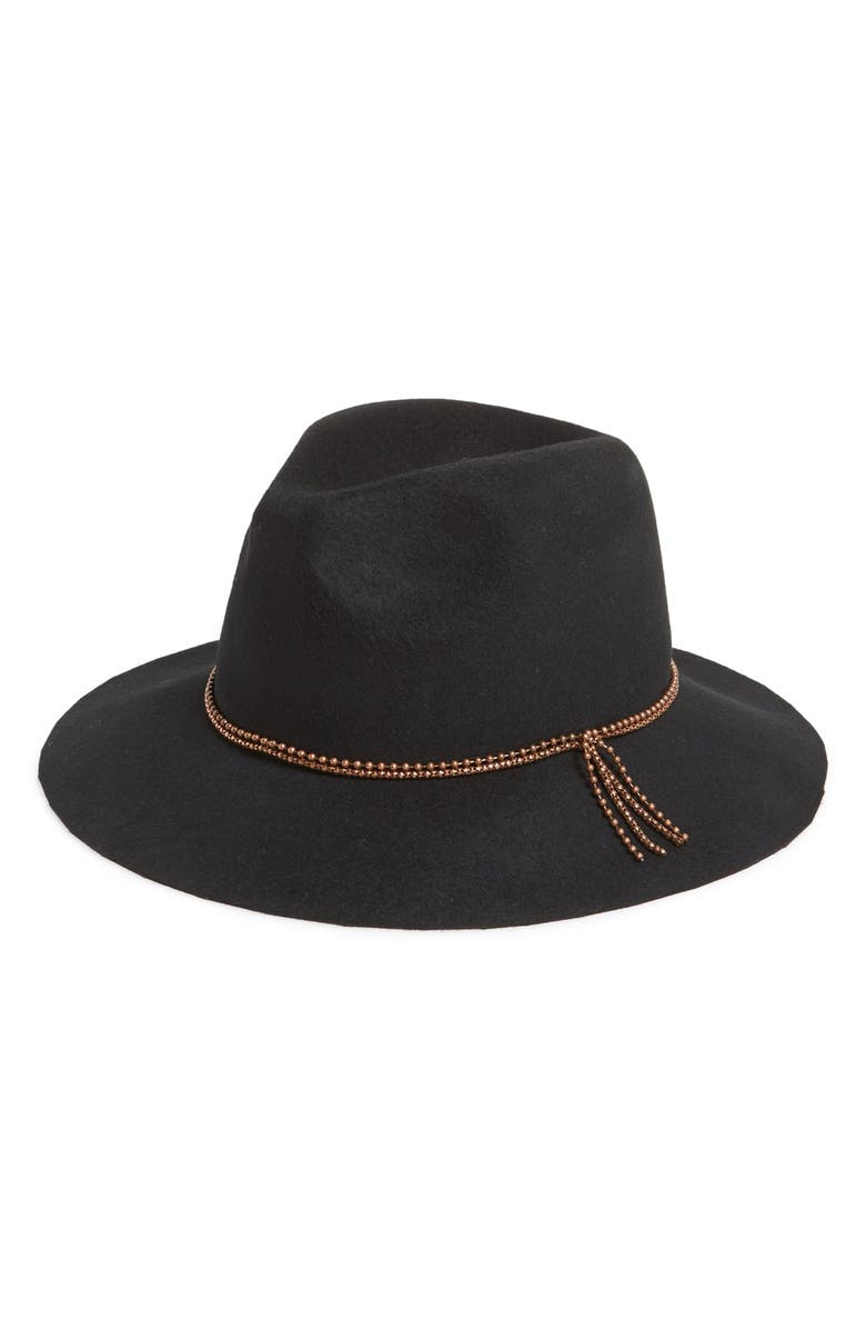 DAVID & YOUNG Floppy Wool Fedora, Main, color, 001