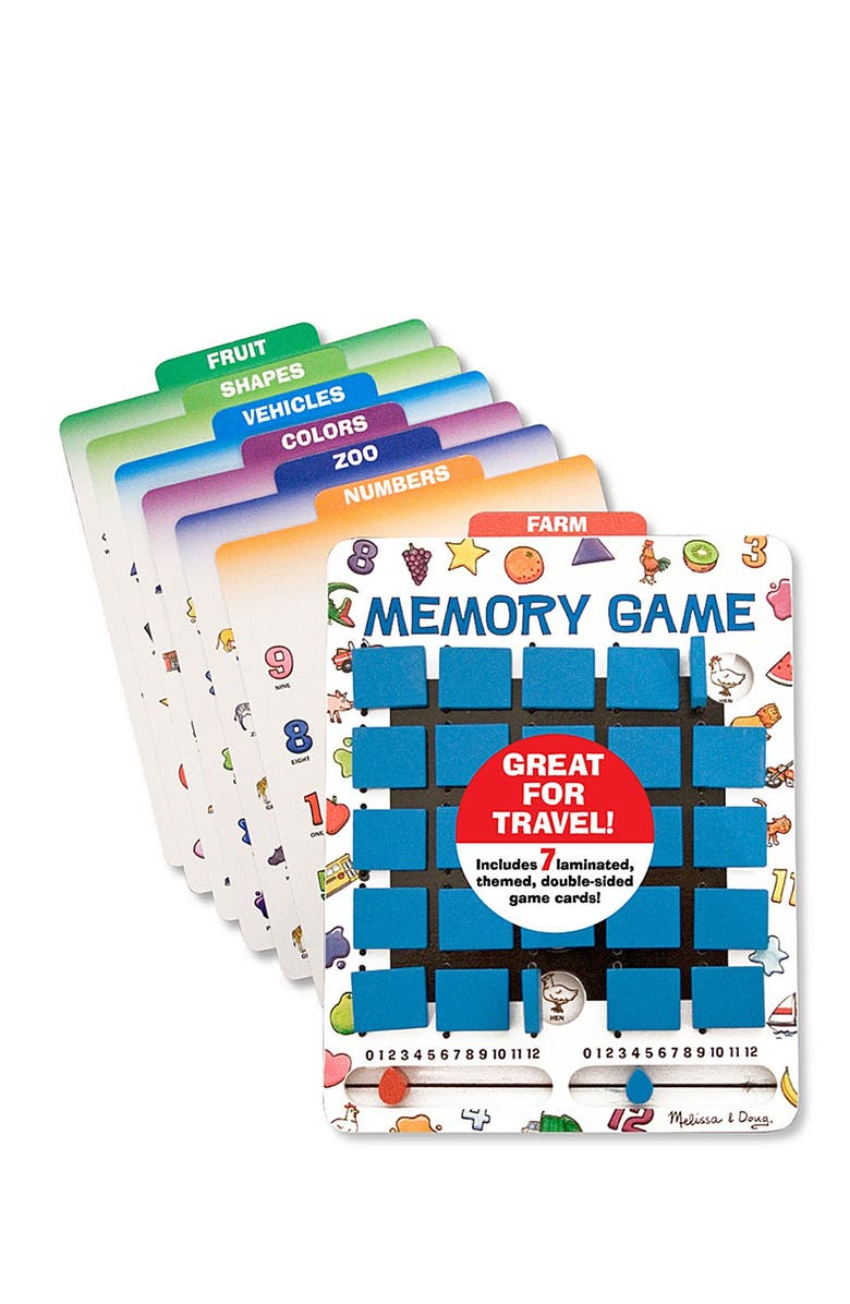 MELISSA AND DOUG Flip to Win Memory Game, Main, color, NO COLOR