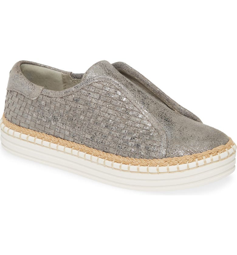 JSLIDES Kayla Slip-On Sneaker, Main, color, PEWTER KISS LEATHER