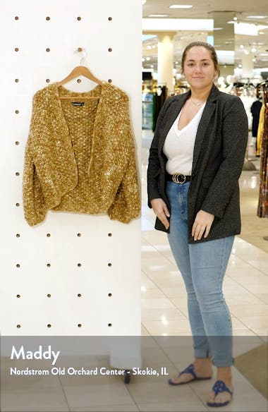 Marled Crop Open Front Cardigan, sales video thumbnail