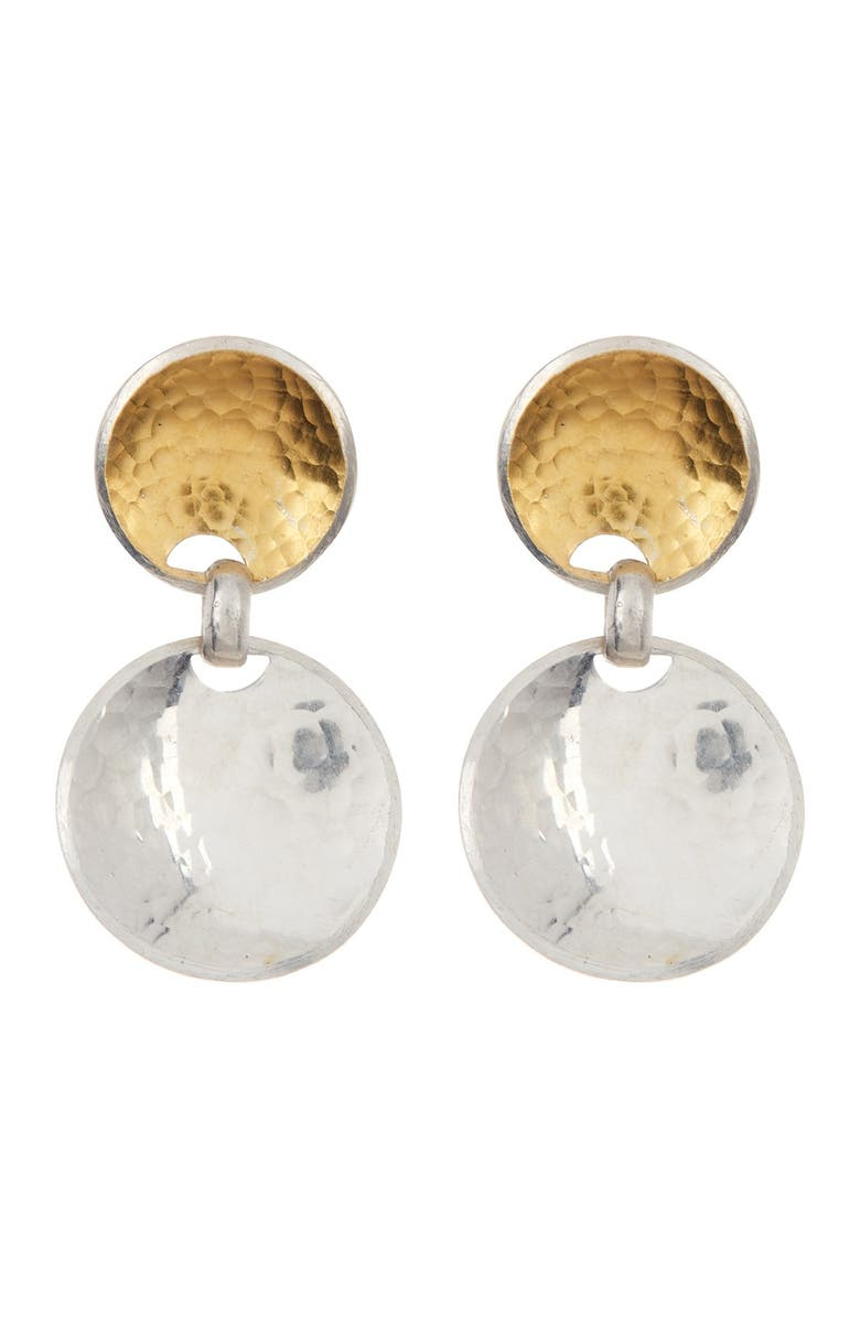 GURHAN Two-Tone Sterling Silver Double Drop Hourglass Earrings, Main, color, SILVER