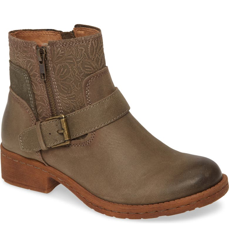 COMFORTIVA Sterns Bootie, Main, color, PALE OLIVE LEATHER