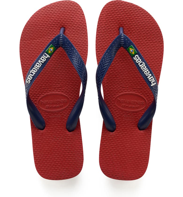 HAVAIANAS Brazil Flip Flop, Main, color, RED