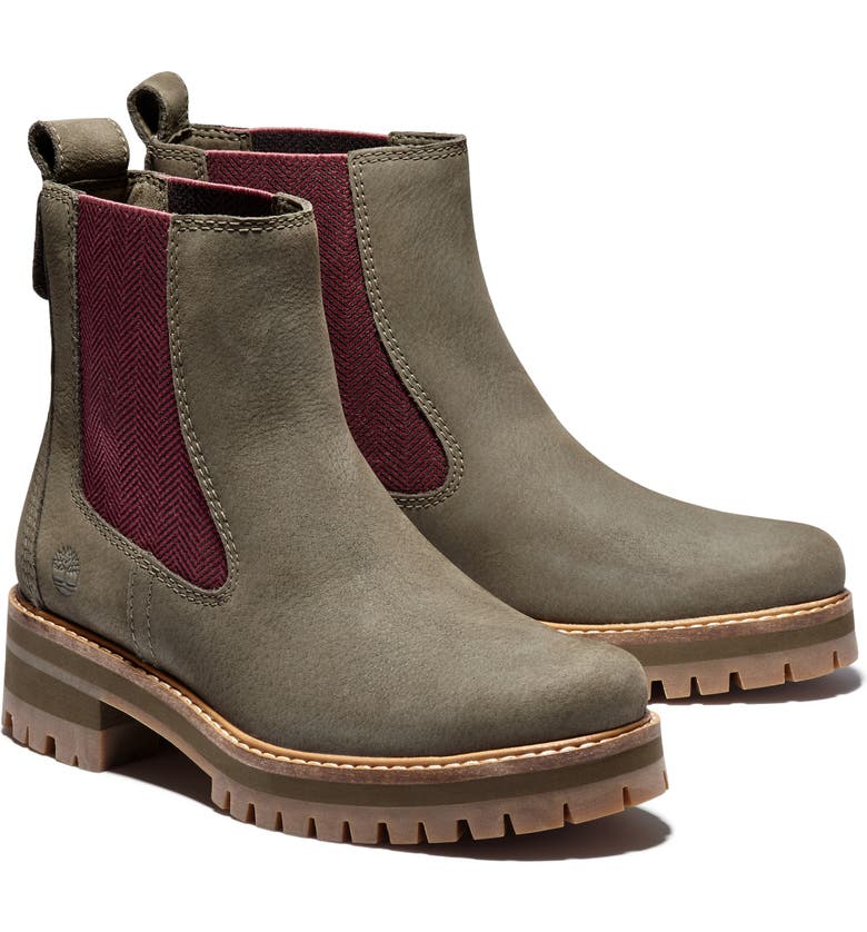 TIMBERLAND Courmayeur Valley Chelsea Boot, Main, color, OLIVE NUBUCK