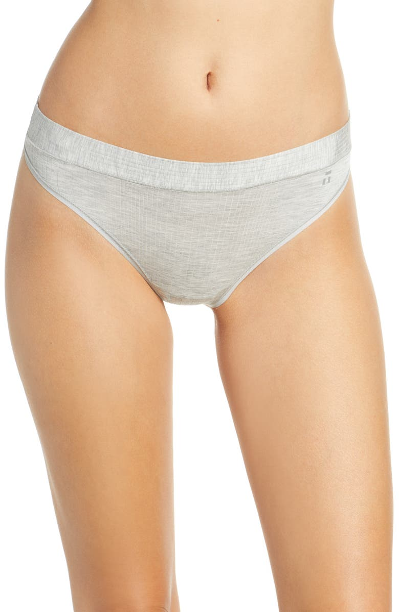 TOMMY JOHN Second Skin Luxe Rib Thong, Main, color, 020