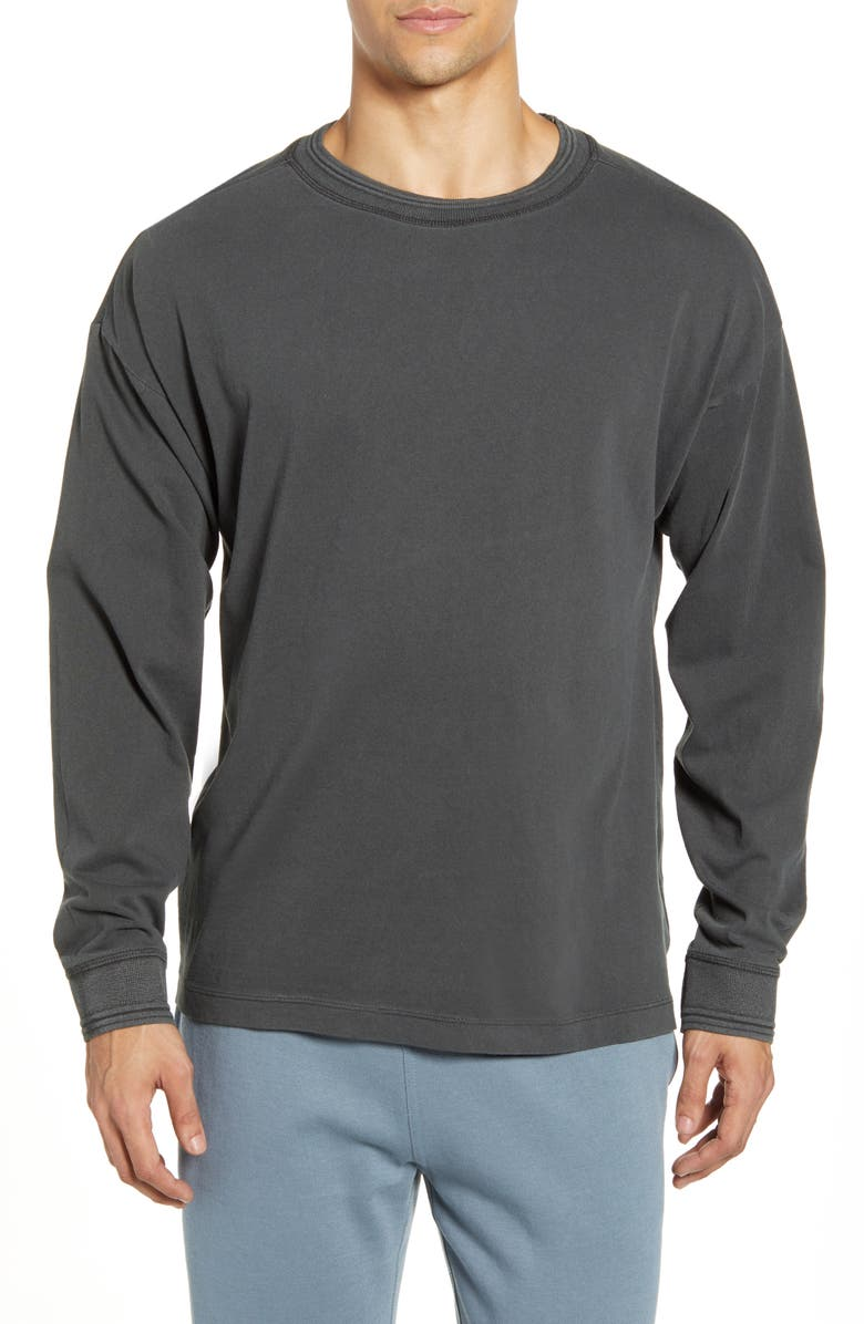 RICHER POORER Relaxed Cotton Crewneck Sweater, Main, color, 002