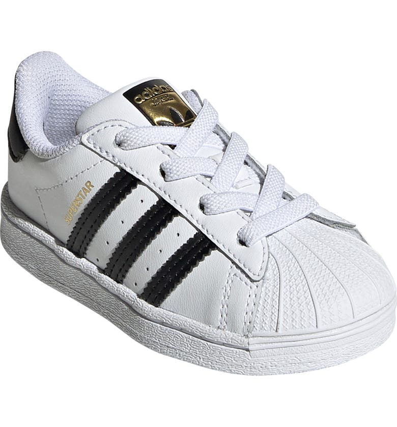 ADIDAS Kids' Superstar Sneaker, Main, color, FTWR WHITE/ CORE BLACK