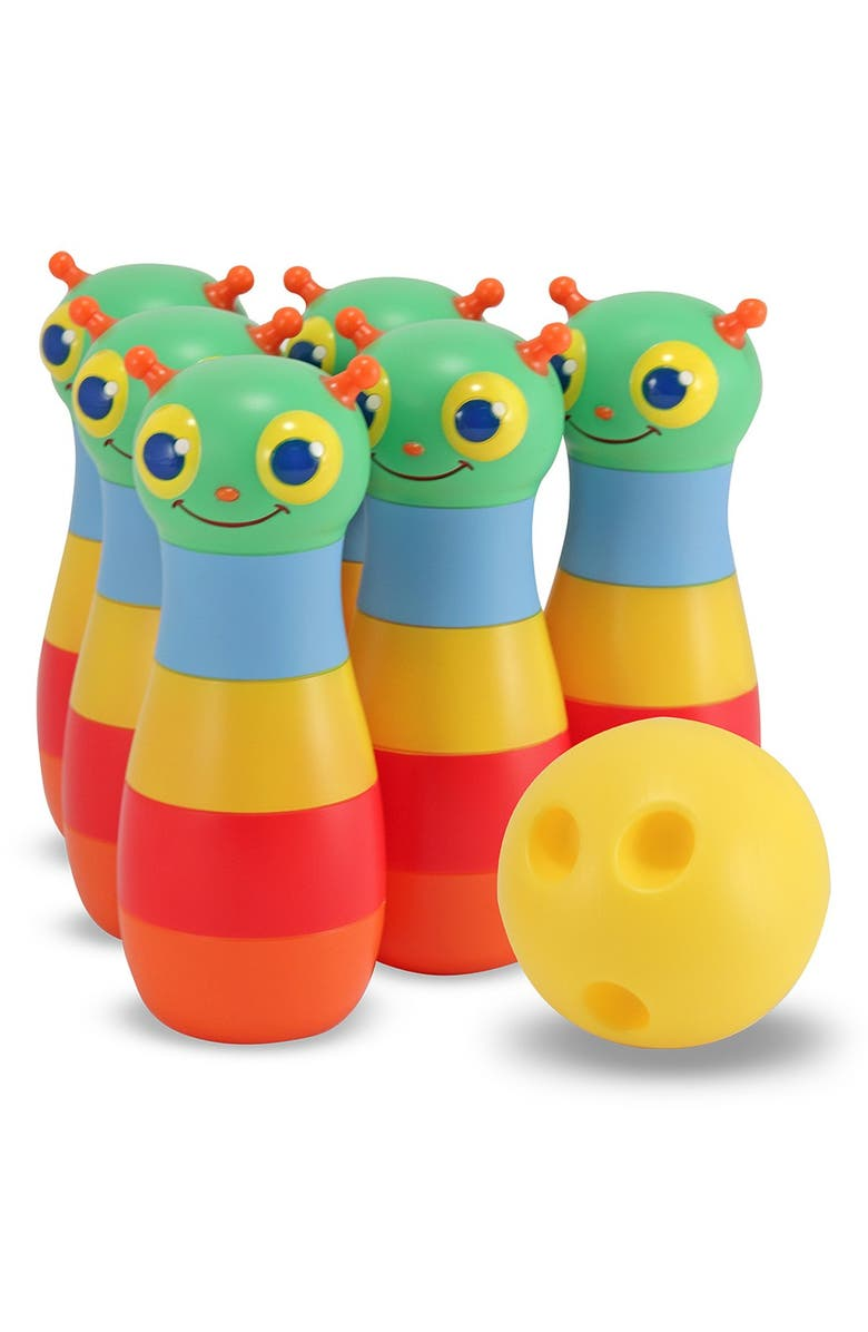 MELISSA AND DOUG 'Happy Giddy' Bowling Set, Main, color, MULTI