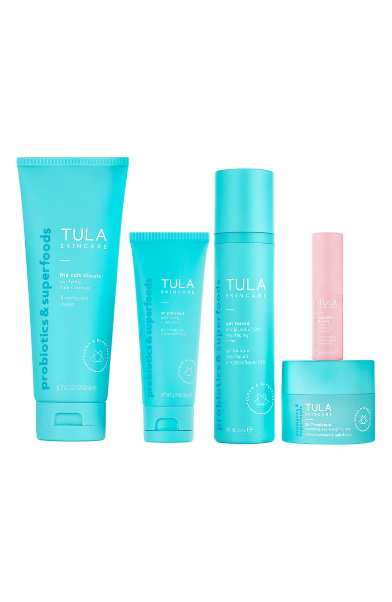 TULA SKINCARE Glow Starts Here Full Size Skin Essentials Set, Main, color, NO COLOR