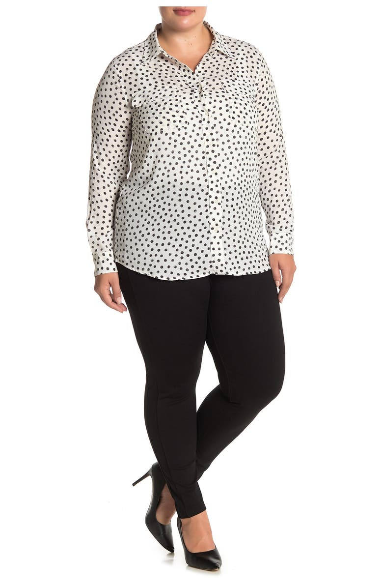 VINCE CAMUTO Ponte Pull-on Ankle Leggings, Main, color, RICH BLACK