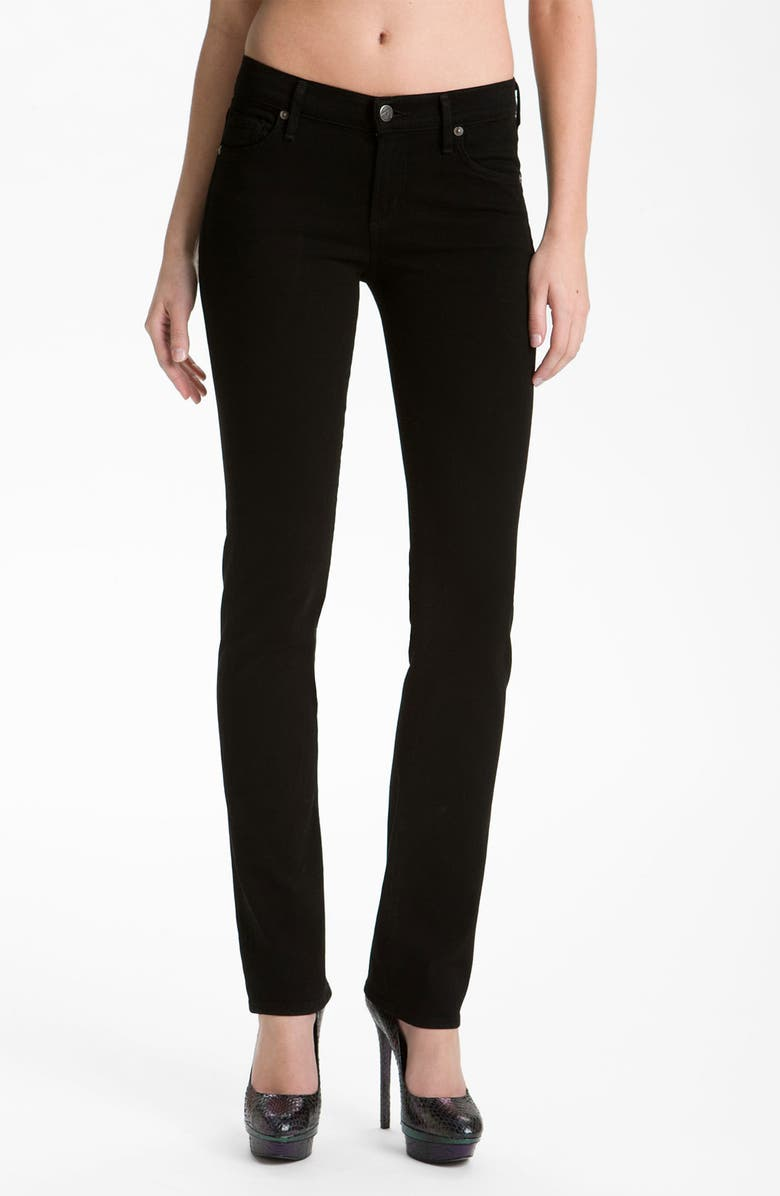 CITIZENS OF HUMANITY 'Ava' Straight Leg Stretch Jeans, Main, color, VAMP BLACK
