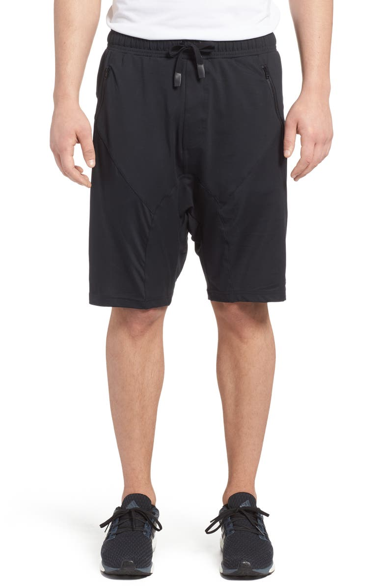 ALO Drop Crotch Shorts, Main, color, 001