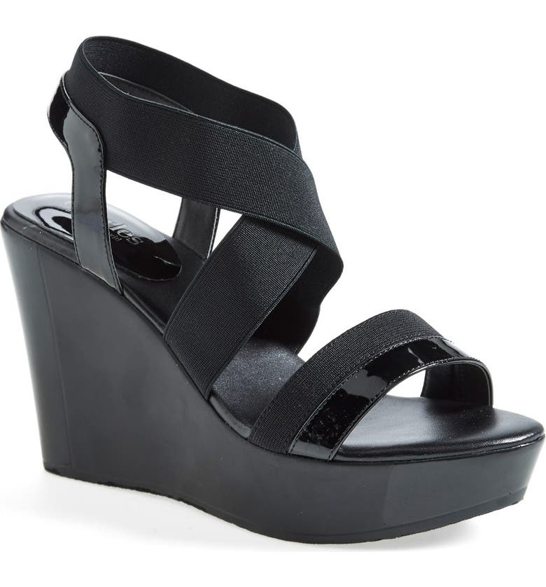 CHARLES BY CHARLES DAVID 'Feature' Wedge Sandal, Main, color, 001