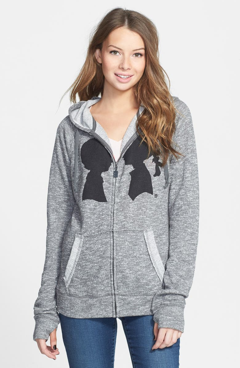BOY MEETS GIRL 'Coco' Logo French Terry Full Zip Hoodie, Main, color, 020