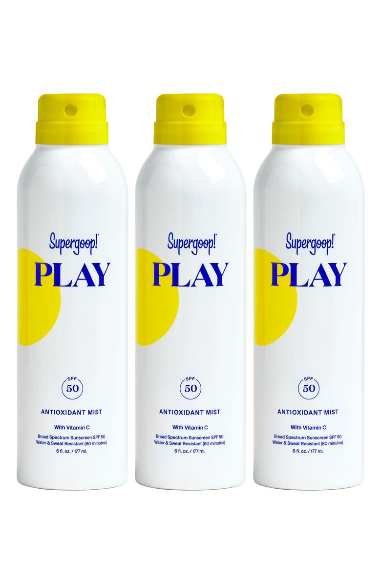 SUPERGOOP!<SUP>®</SUP> Supergoop! Full Size Play Antioxidant Body Mist SPF 50 Sunscreen, Main, color, NO COLOR
