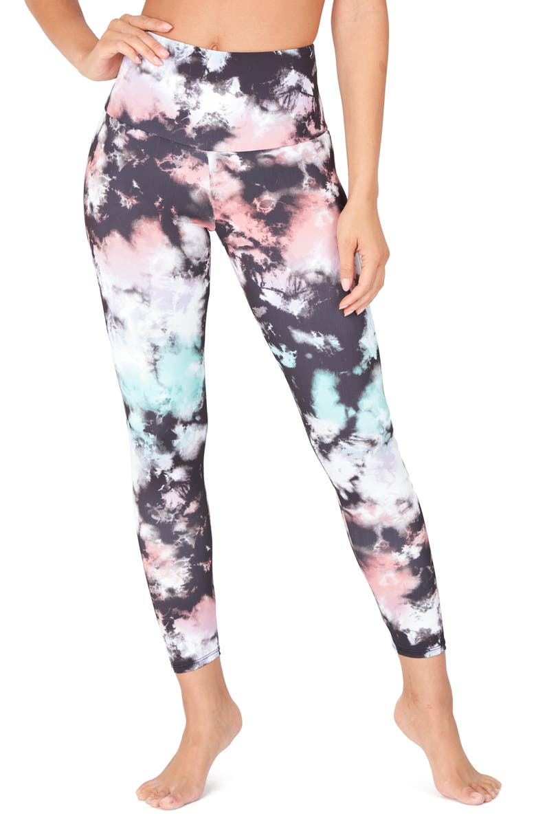 ONZIE High Rise Midi Leggings, Main, color, TRUE ROMANCE