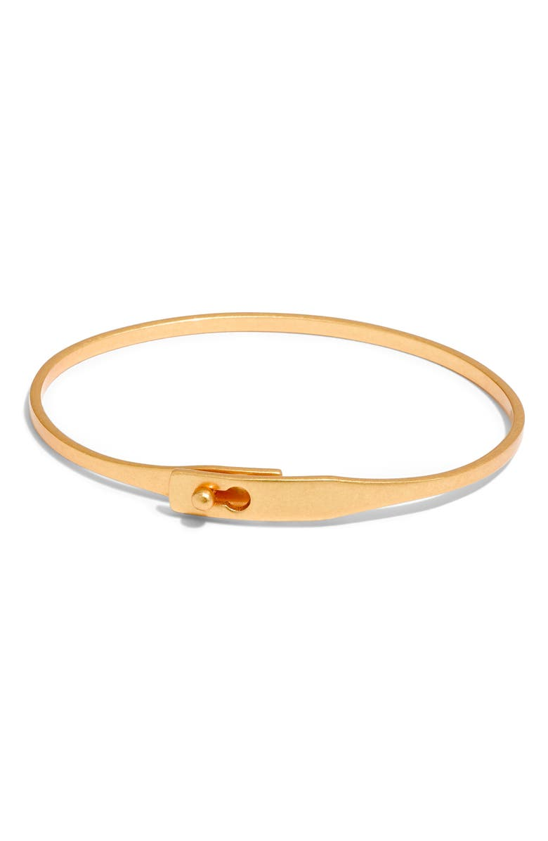 MADEWELL Delicate Glider Bangle Bracelet, Main, color, VINTAGE GOLD