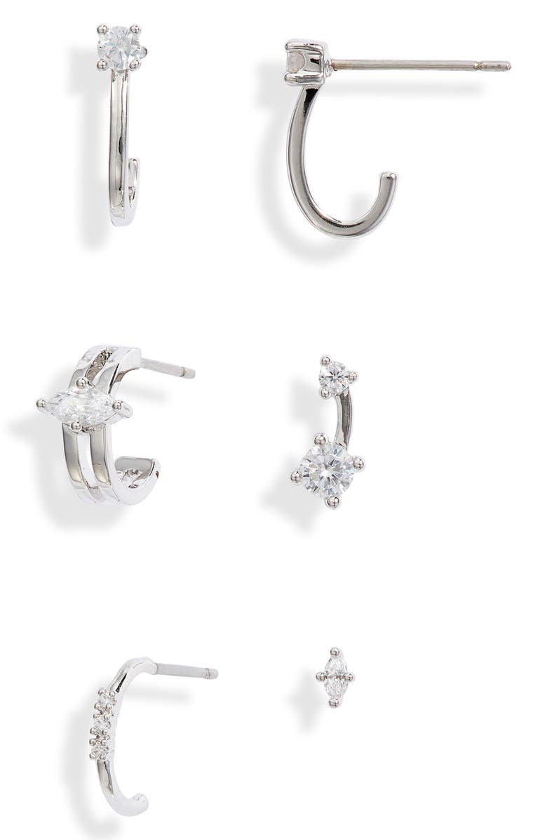 NORDSTROM Set of 6 Ear Party Earrings, Main, color, 040