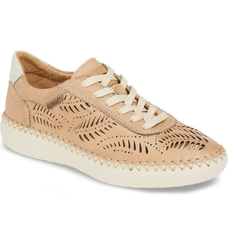 PIKOLINOS Mesina Perforated Low Top Sneaker, Main, color, BAMBOO LEATHER