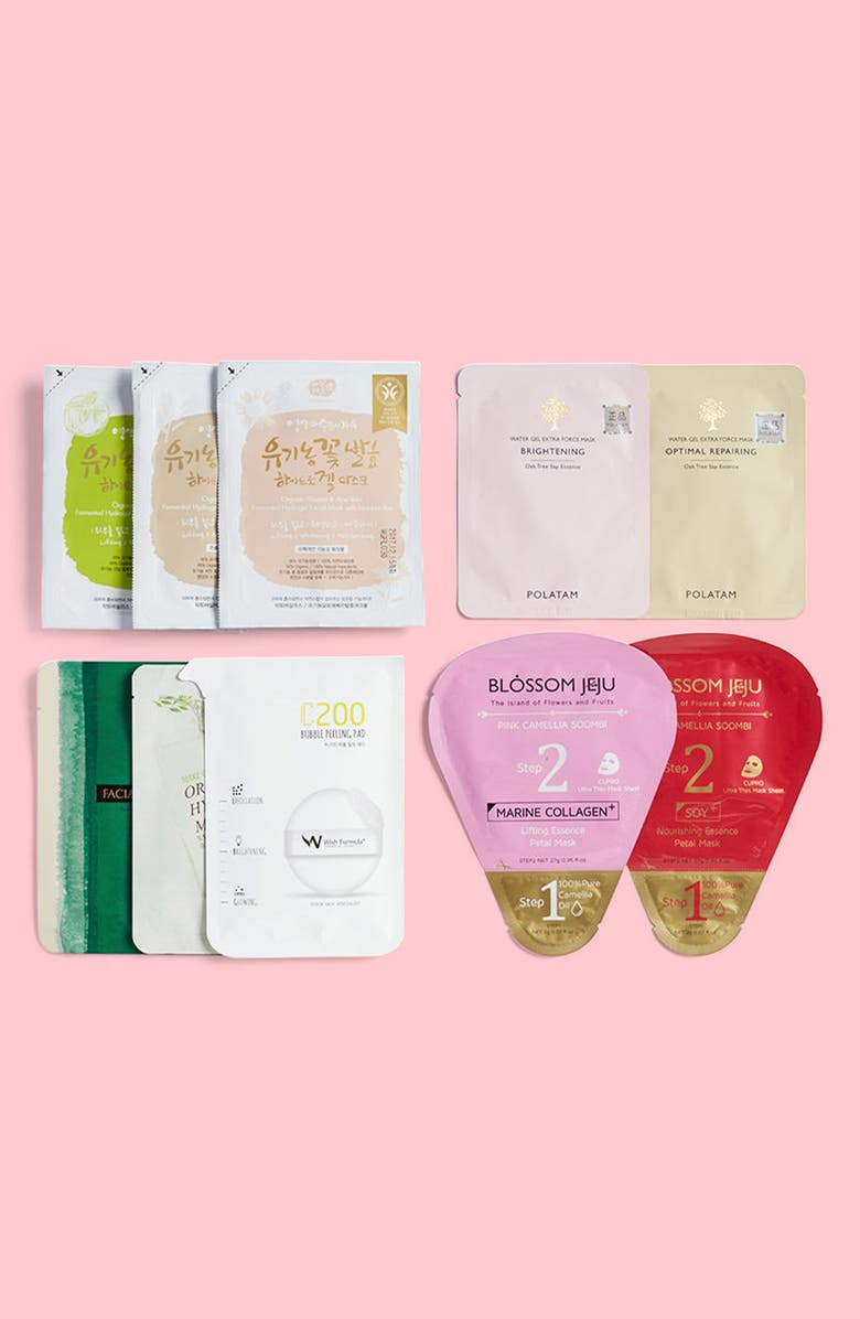 GLOW RECIPE 10 Days to Glow Hydrogel Beauty Mask Set, Main, color, 000