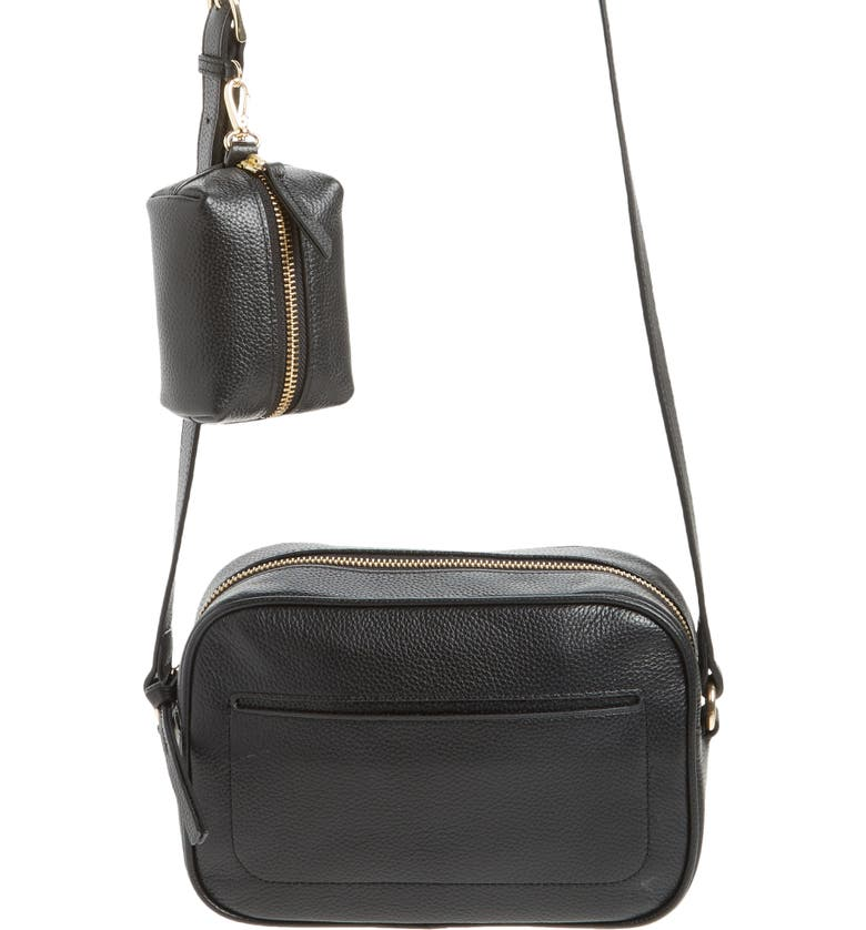 NORDSTROM Margo Crossbody Bag with Accessory Pouch, Main, color, BLACK