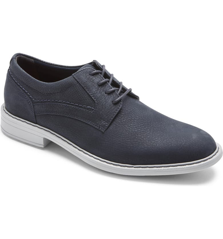 ROCKPORT Tanner Plain Toe Derby, Main, color, NAVY