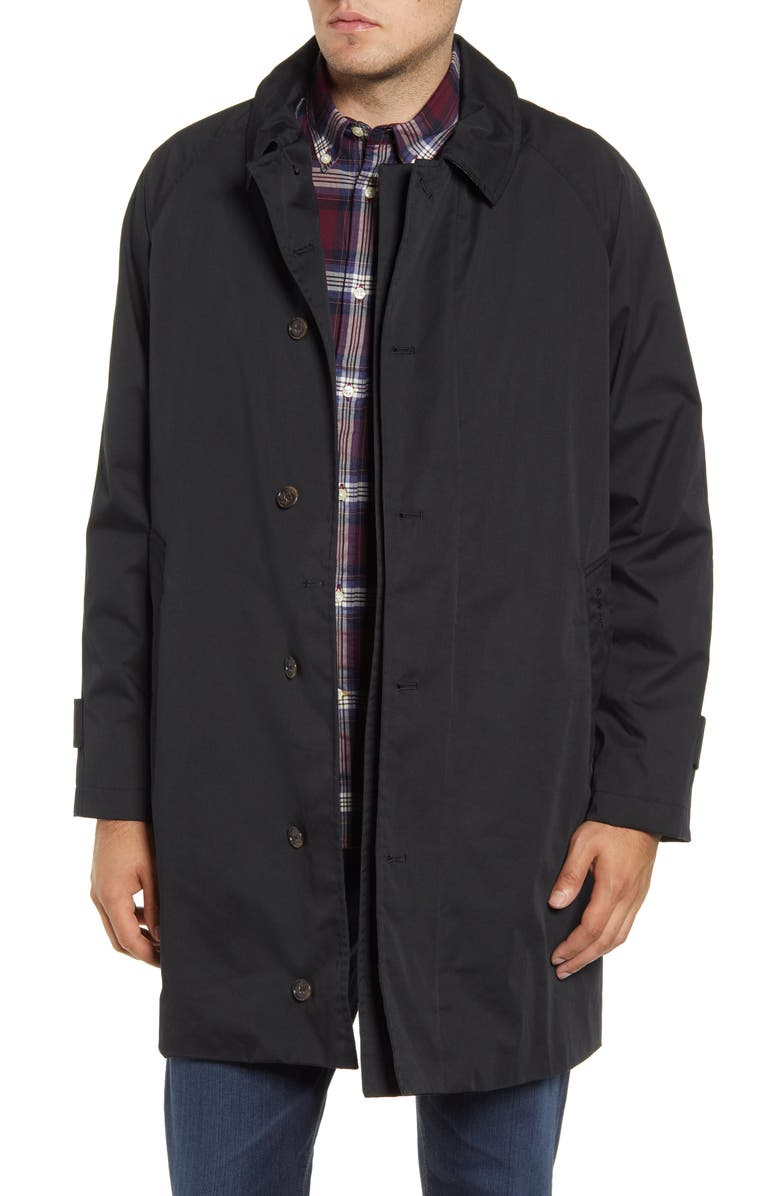 BARBOUR Maghill Waterproof Trench Coat, Main, color, Black