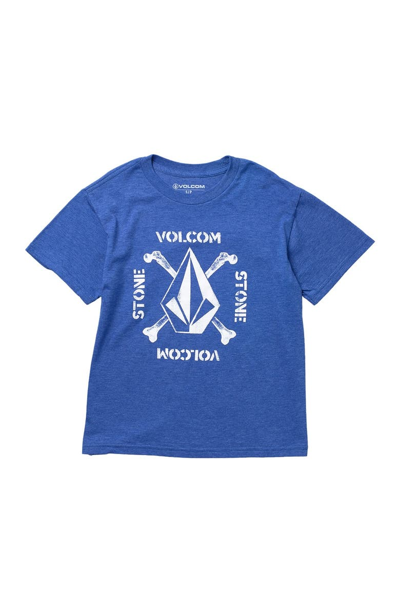VOLCOM Mutinystone By Graphic T-Shirt, Main, color, ROYAL HEATHER