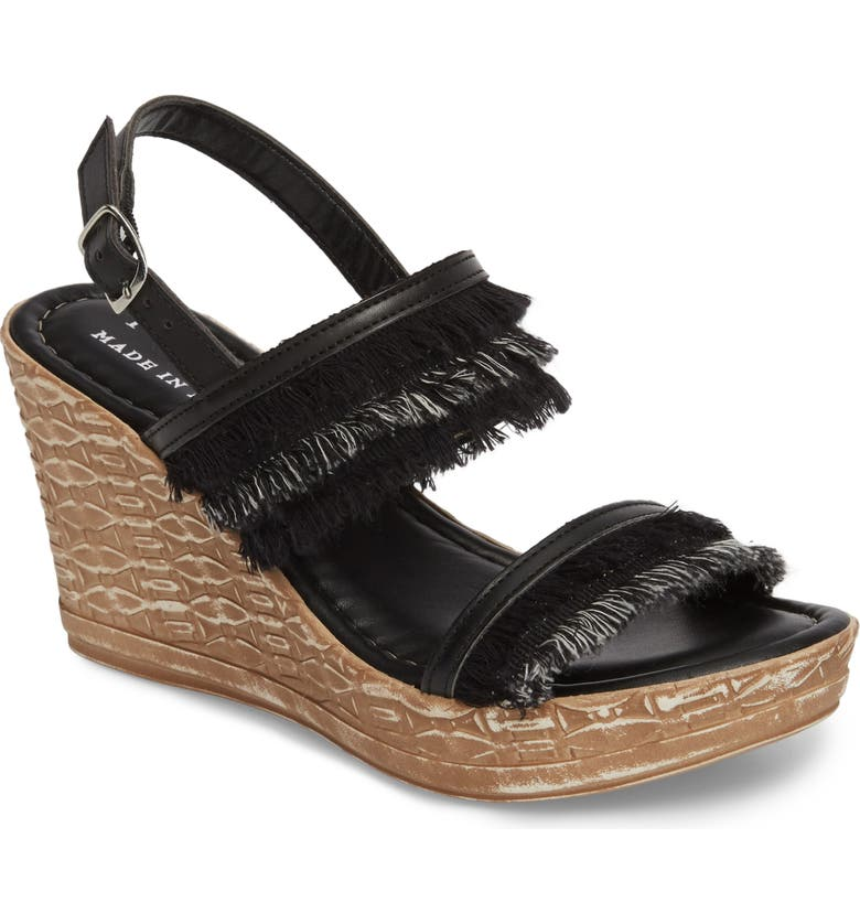 TUSCANY BY EASY STREET<SUP>®</SUP> Zaira Wedge Espadrille Sandal, Main, color, 001