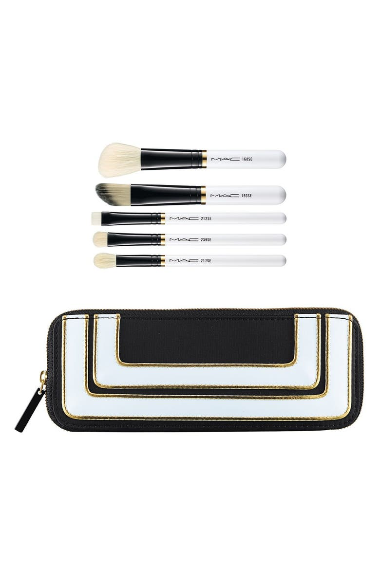 MAC COSMETICS M·A·C 'Stroke of Midnight' Essentials Brush Kit, Main, color, 000