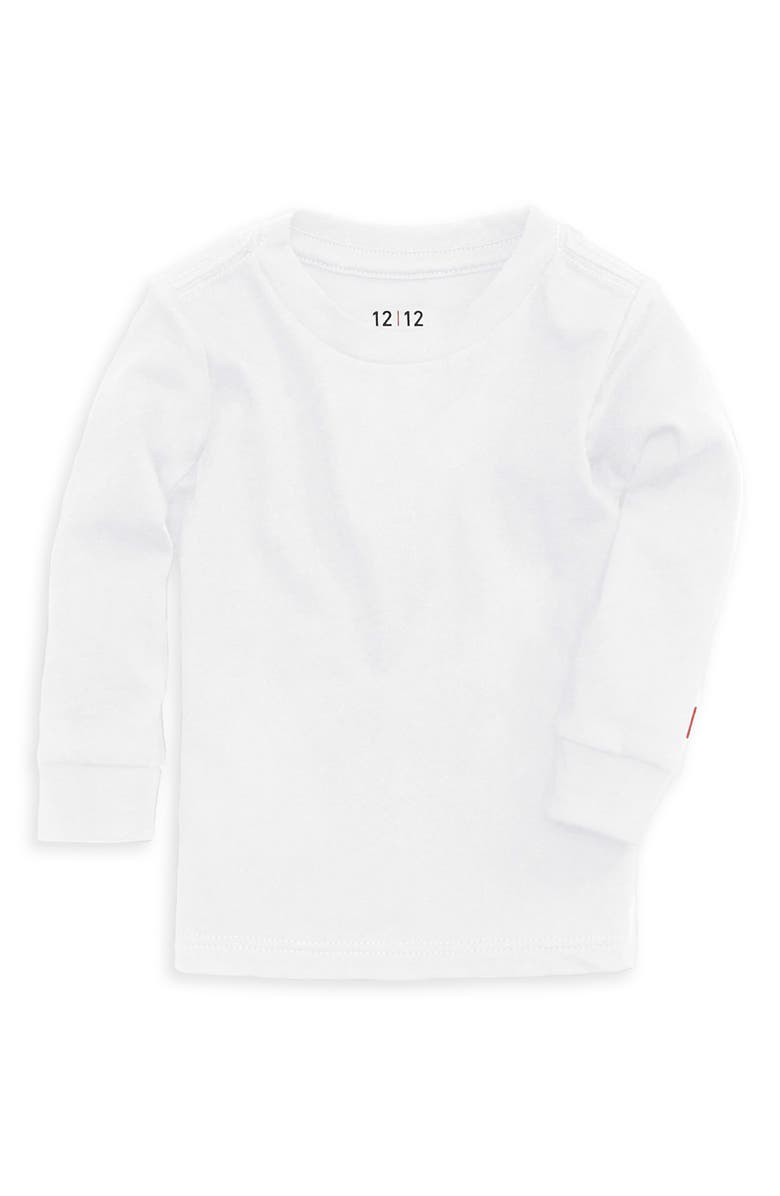 1212 The Daily Organic Cotton Long Sleeve T-Shirt, Main, color, White