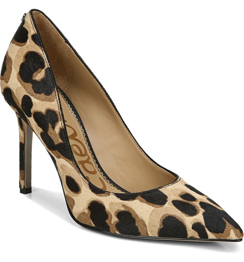 SAM EDELMAN Hazel Pointed Toe Pump, Main, color, BROWN MULTI CALF HAIR